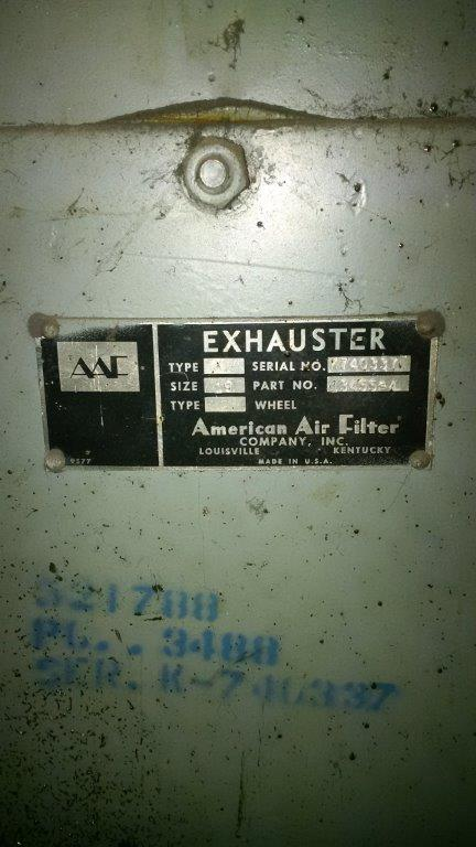 AAF 10-64 (8500 CFM) Used Bag House Dust Collector-5270