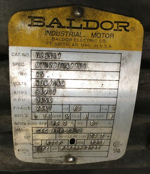 Donaldson Torit DFT 4-16 Motor Plate