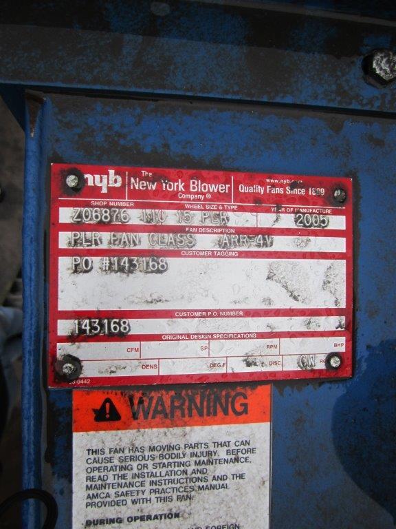 Donaldson Torit DFO 3-6 Blower Control Panel