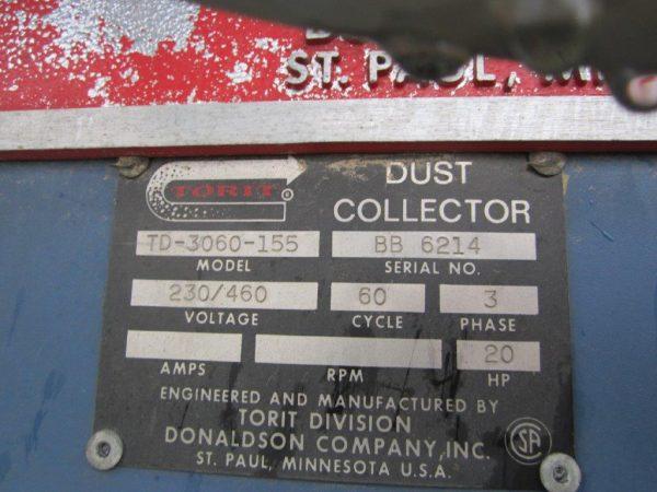 Model Plate Donaldson Torit TD-3060-155