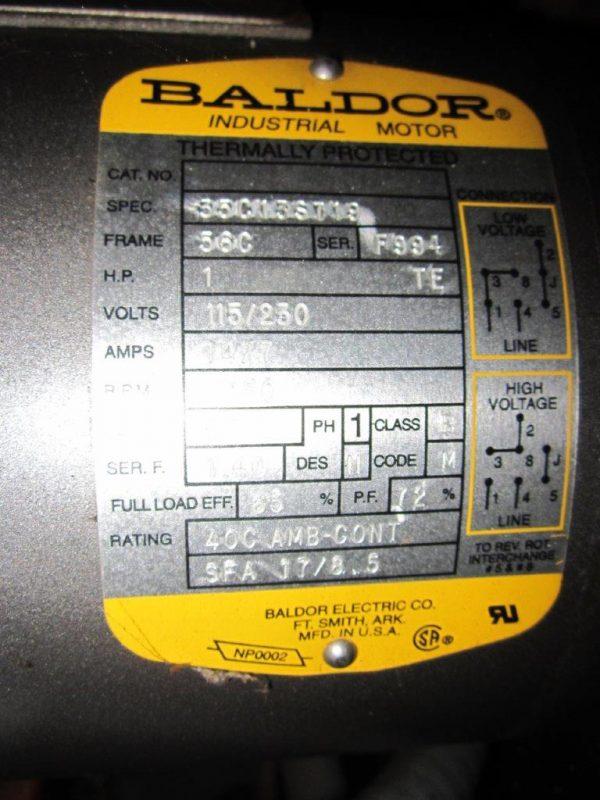 Blower/Motor Model Plate AirFlow Systems PC02-LTK-PG7